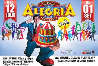"""""""El Circo de La Alegría de Pitillo""""  en el CC. Jockey Plaza"""