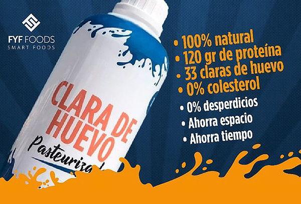 540f11b0ff ¡INCREIBLE! Clara de Huevo Pasteurizada 100% Natural