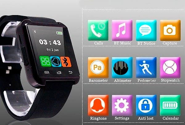8e5cd49421b SmartWatch U8 Reloj Inteligente Bluetooth Tactil