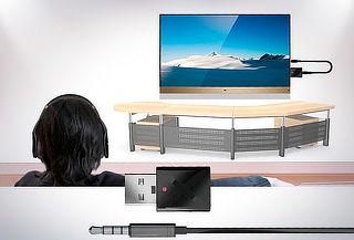 Transmisor Bluetoth 5.0 con Conexion Auxiliar para TV PC