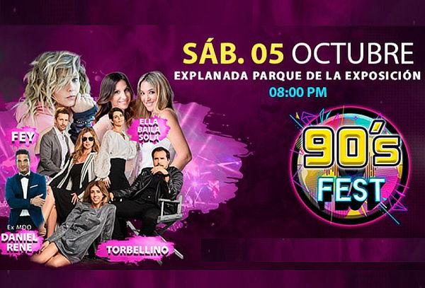 ¡90's FEST! Fey, Ella Baila Sola, Torbellino, DanielRene-MDO