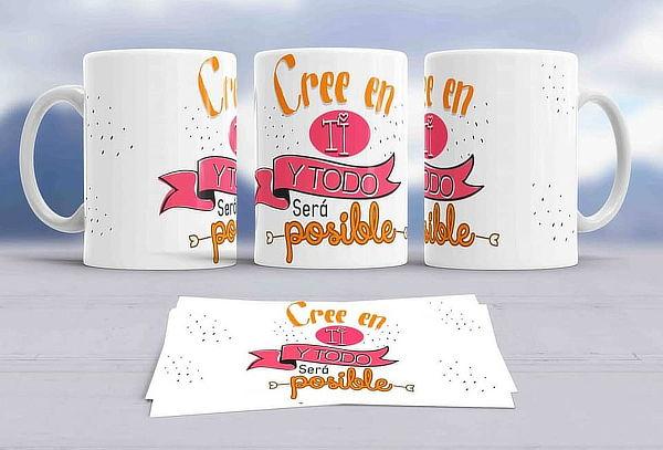 Pack de 4 Tazas con Frases Motivadoras