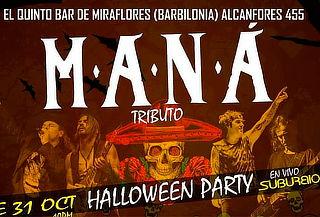 "MANA ""Halloween Party"" (tributo x Suburbio)"