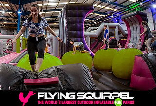 FLYING SQUIRREL: el parque inflable más grande de Sudamérica