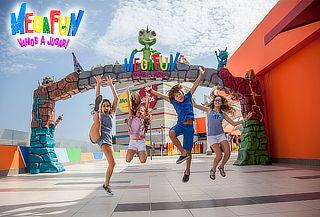 1 entrada con pulsera Willy para niños en Megafun. Elige día