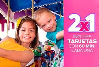2 Tarjetas Coney Park con 1 Hora de Juegos Cada una ¡2x1!