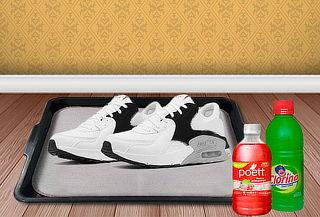 ¡Kit Desinfectante de Calzado! Bandeja + Lejía + Poett y Más