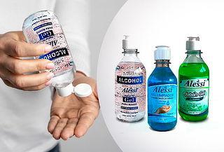TRIPACK Alcohol Gel + Jabon Liquido + Gel Limpiador