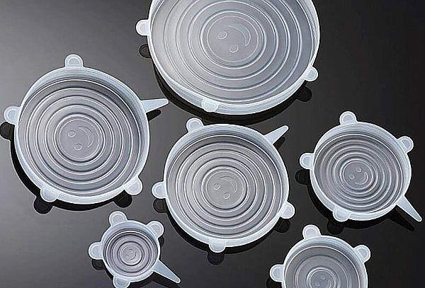 Set de 6 Tapas de Silicona Diferentes Tamaños
