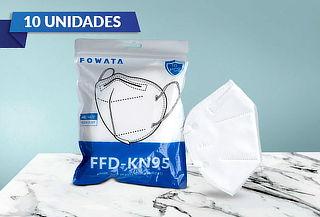Pack de 10 mascarillas KN95 FOWATA ORIGINALES