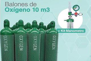 Balones de Oxígeno Cargados Nuevos + Kit Completo + Delivery