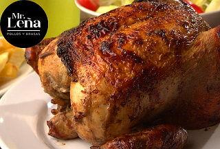 1 Pollo + Papas+ Ensalada - Mr. Leña ¡SIN RESERVA!