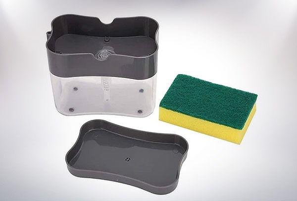 Dispensador de detergente liquido + Esponjita lava platos
