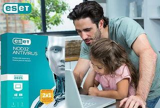 ¡2 X 1! Licencia de Antivirus ESET NOD 32 Antivirus 2021