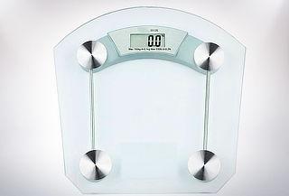 Balanza Digital de Vidrio Transparente hasta 180Kg