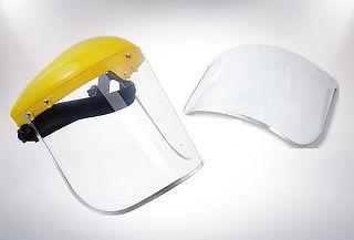 ¡INSUPERABLE! Protector Facial Medio Casco + Repuesto