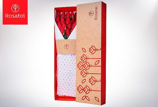 Caja 3R Rosatel con 25, 20, 15, 12, 9 o 6 Rosas