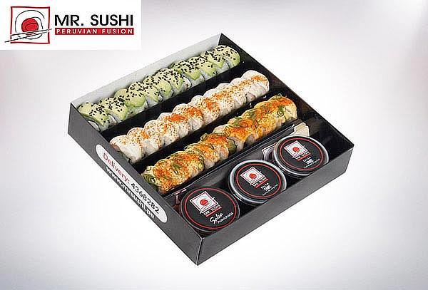 20, 25 o 30 Makis en Mr. Sushi con opción de Delivery