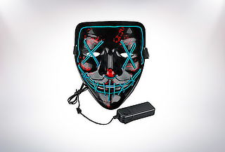 ¡Terror LED! Máscara de la Purga Halloween