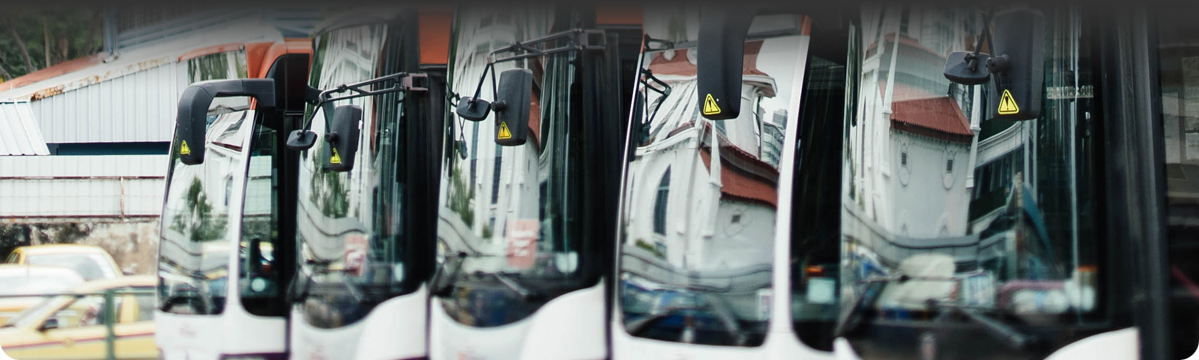Parte frontal de buses