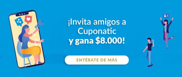 ¡Invita amigos a Cuponatic y gana $8.000!