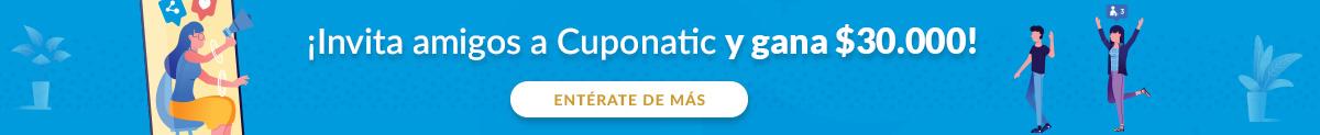 ¡Invita amigos a Cuponatic y gana $30.000!