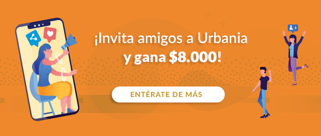 ¡Invita amigos a Urbania y gana $8.000!